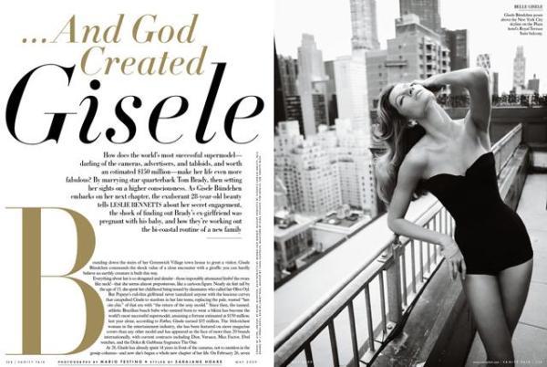 Gisele também concedeu uma entrevista, onde falou sobre seu casamento com Tom Brady e também sobre o ex, Leonardo DiCaprio.