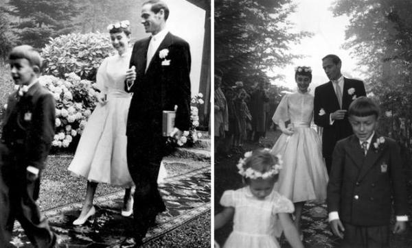 Primeiro casamento de Audrey, com o ator Mel Ferrer.