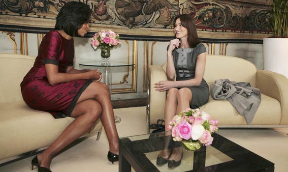FIRST LADIES MICHELLE OBAMA AND CARLA BRUNI-SARKOZY