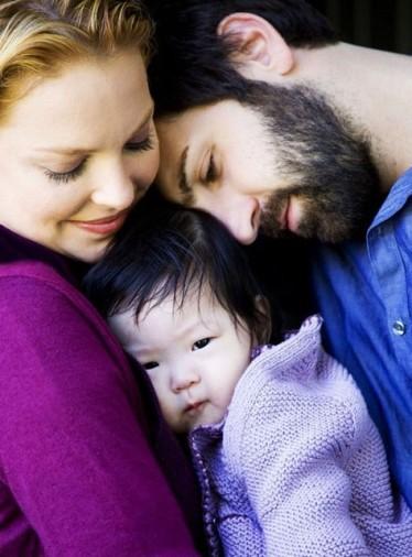 Katherine, Josh e a pequena Naleigh