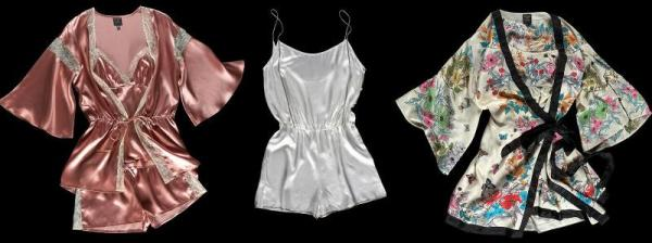 blush lace silk ningtwear set