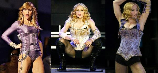 Madonna com o figurino do Confessions Tour
