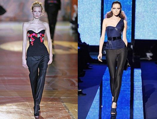 Calças + Corset Roberto Cavalli e Versace