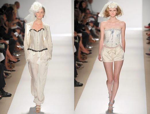 Combinação de calça + blazer e look despojado com short na passarela da Tuleh
